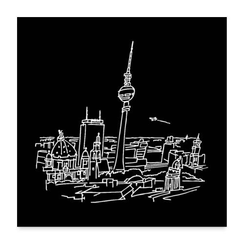 Berlin Panorama Poster - Poster 60x60 cm
