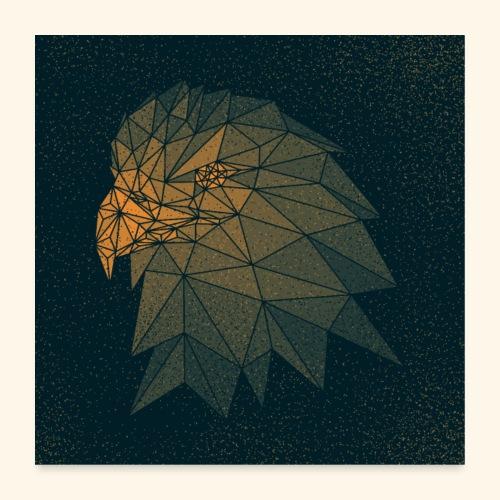 Adler punktiert - Poster 60x60 cm