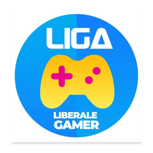 Liberale Gamer Wappen - Poster 60x60 cm