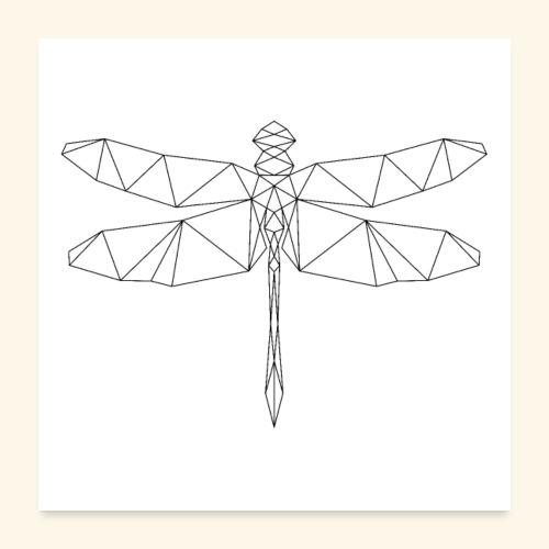 Libelle, geometrisch - Poster 60x60 cm