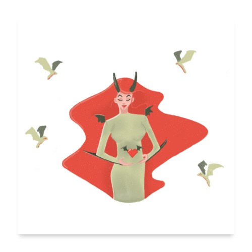 Witch of love - Poster 60 x 60 cm