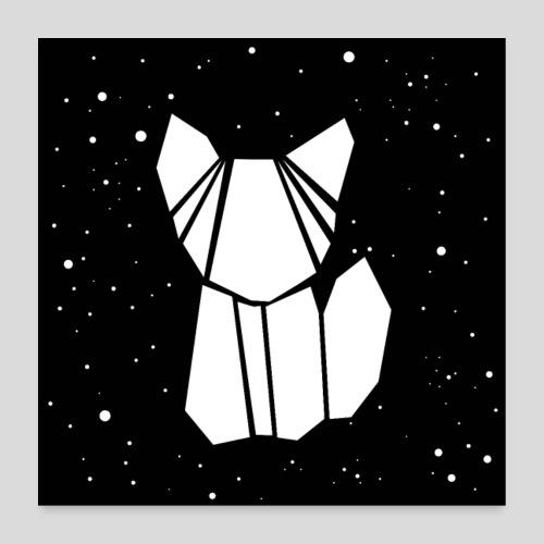 Katze in schwarz weiß - Poster 60x60 cm