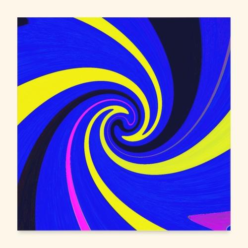 Vortice giallo - Poster 60x60 cm