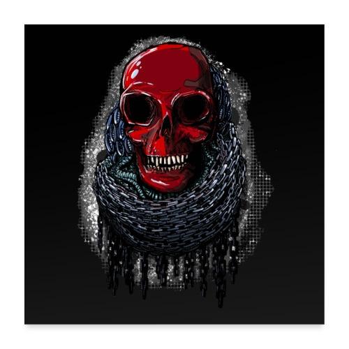 Red Skull Poster 1: 1 - Poster 24 x 24 (60x60 cm)
