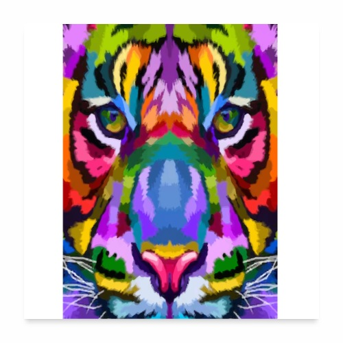 lion colors - Poster 60 x 60 cm