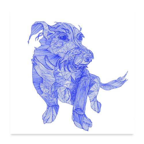 Das ist wohl ein chinesischer Drachen - Hund - Poster 60x60 cm