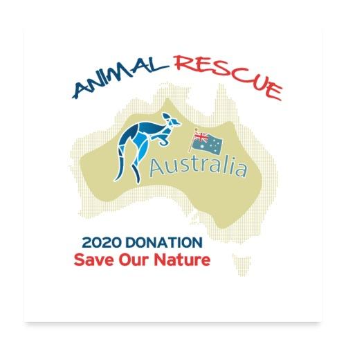 Australien - Spendenaktion - Animal Rescue - Poster 60x60 cm