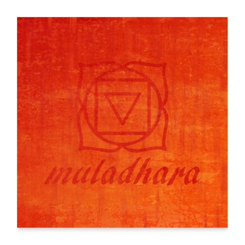 poster muladhara chakra hindu tantrism India yoga - Poster 60x60 cm