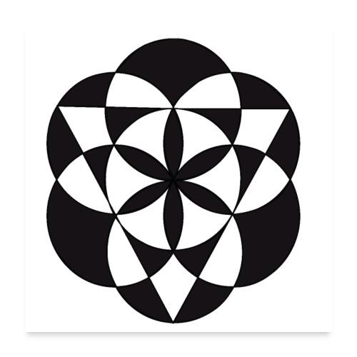diseño de figuras geométricas - Póster 60x60 cm
