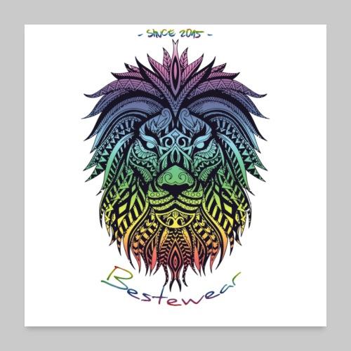 #Bestewear Color Lion - Poster 60x60 cm