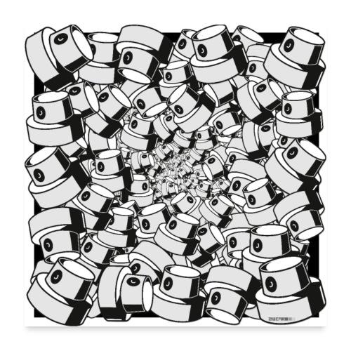 geometric graffiti fap caps square print ver 0.1. - Poster 60x60 cm