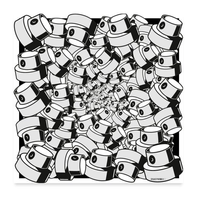 geometric graffiti fap caps square print ver 0.1.