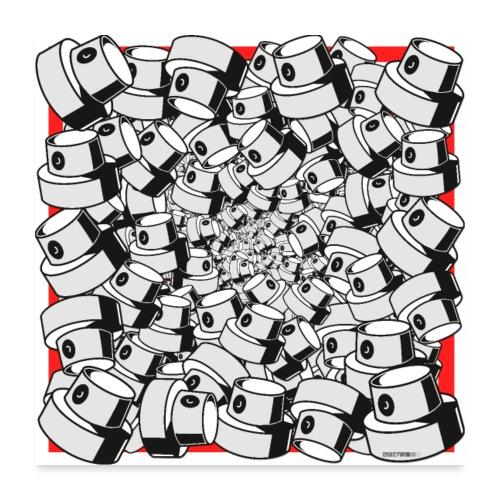 graffiti fap caps infinity square print sp tryk 3 - Poster 60x60 cm