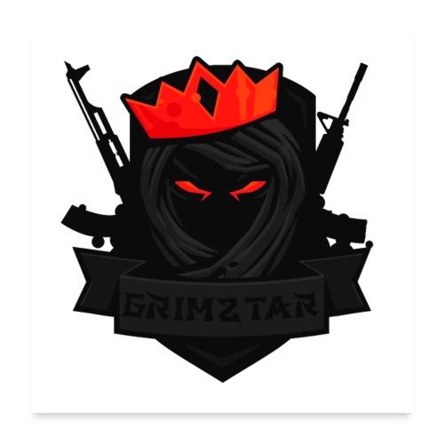 Grimztar Logo - Poster 60x60 cm
