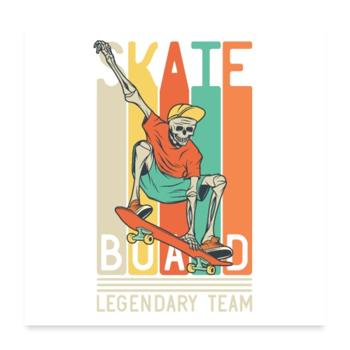 Skateboard 10 - Poster 60x60 cm