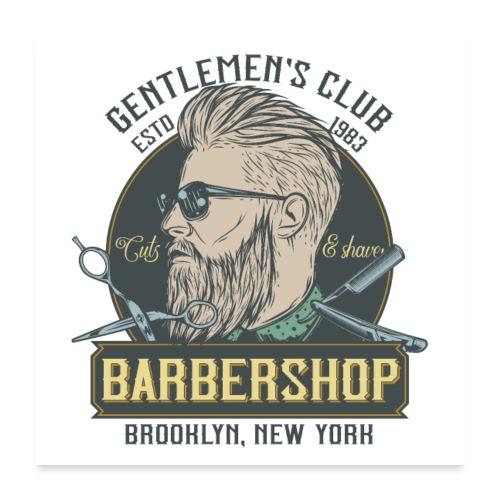 Classic barbershop font 5 - Poster 60x60 cm