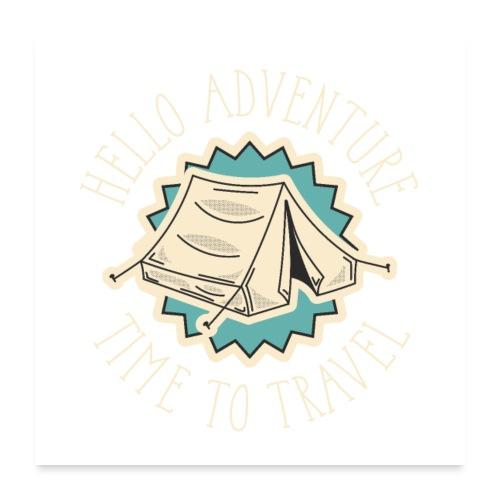 adventure font 5 - Poster 60x60 cm