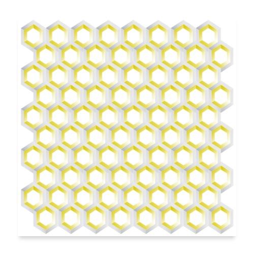 linea pattern cube - Poster 60x60 cm