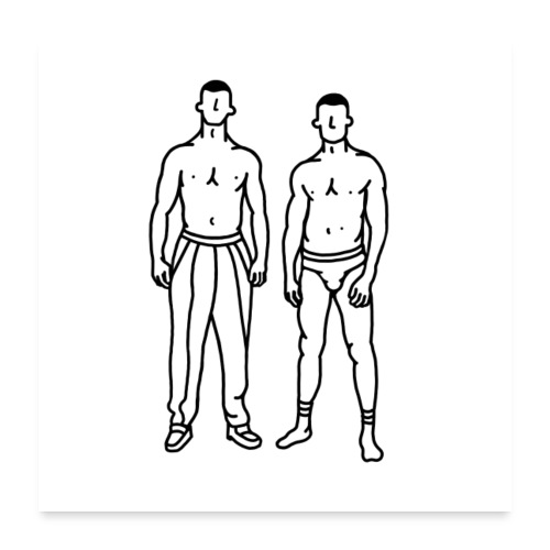 Boys - Poster 60 x 60 cm