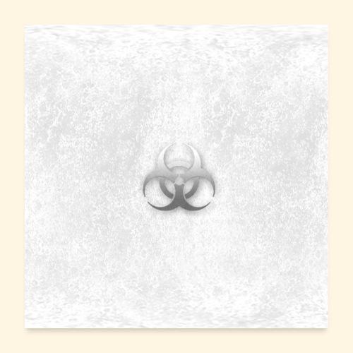 Biogefährdung Piktogramm in grau - Poster 60x60 cm