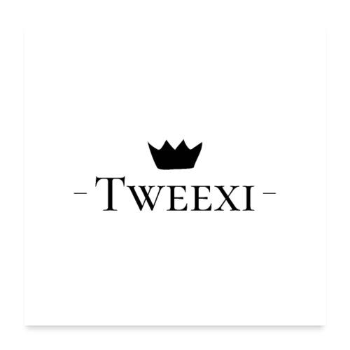 Tweexi logo - Poster 60x60 cm