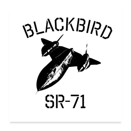Blackbird SR-71 Spy Plane - Poster 60x60 cm