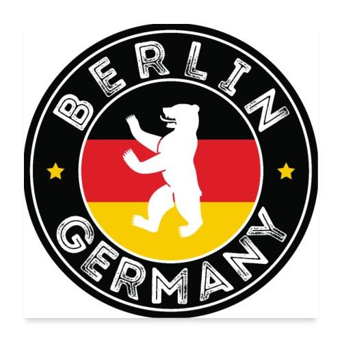 00110 Berlín oso bandera Alemania - Póster 60x60 cm