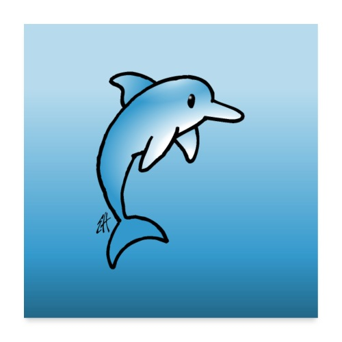 Dolphin - Poster 24 x 24 (60x60 cm)