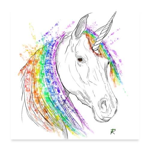 Unicorno - Poster 60x60 cm