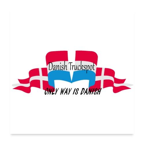 Danish Truckspot poster - Poster 60x60 cm