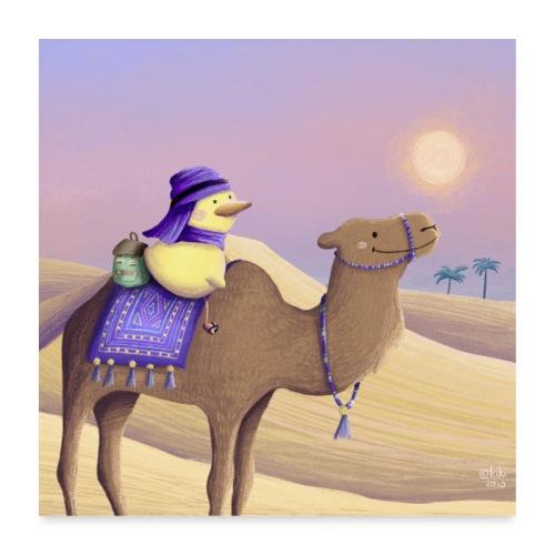 Durch die Wüste - Poster 60x60 cm