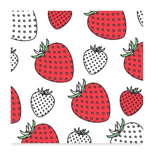 Artist Strawberry - Poster 24 x 24 (60x60 cm)