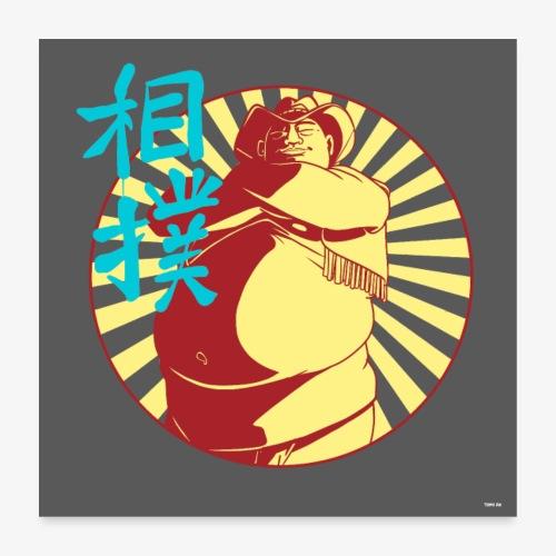 Sumo CowBoy - Poster 60 x 60 cm