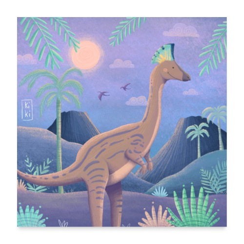Dinosaurier - Poster 60x60 cm