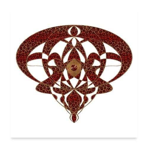 Art Nouveau Art Deco Art Nouveau Vintage Art Gold - Poster 24 x 24 (60x60 cm)