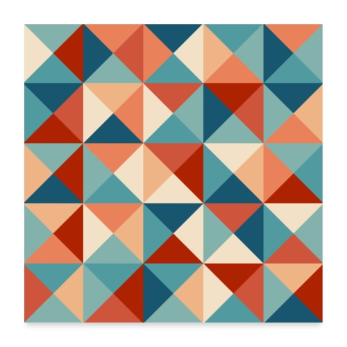 00301 Pattern triangles 2 - Póster 60x60 cm