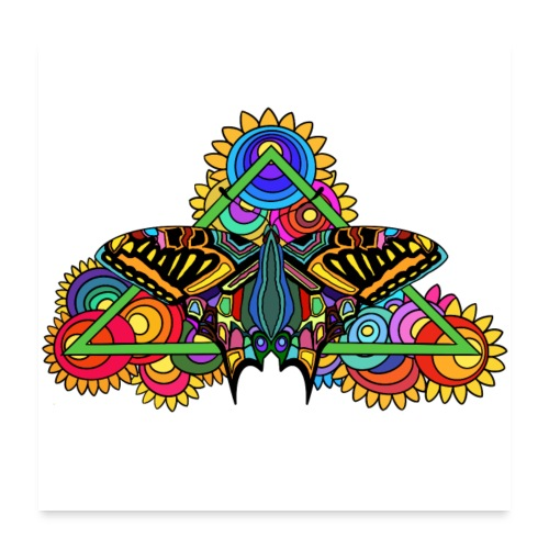 Happy Butterfly! - Poster 60x60 cm