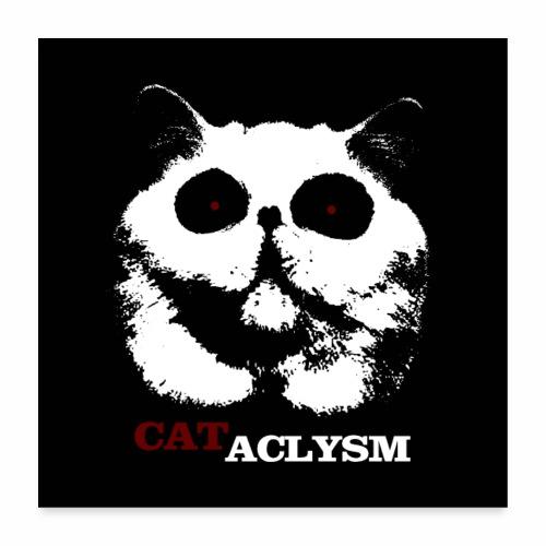 Cataclysm - Zombie Monster Katzen Horror Halloween - Poster 60x60 cm