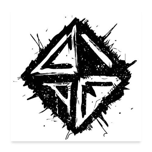 Logo Schwarz - Poster 60x60 cm