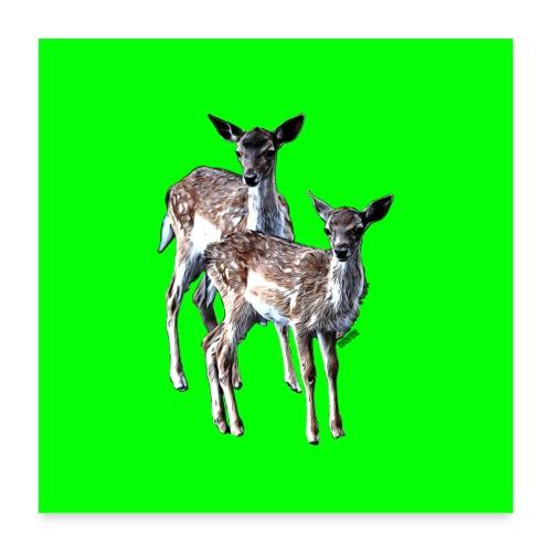 POPIIZERO - THE BAMBIS GREEN - Poster 60x60 cm