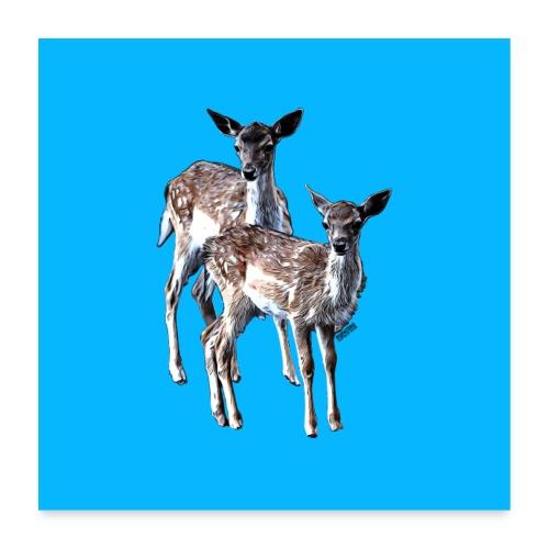 POPIIZERO - THE BAMBIS ICEDBLUE - Poster 60x60 cm