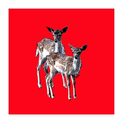 POPIIZERO - THE BAMBIS RED - Poster 60x60 cm