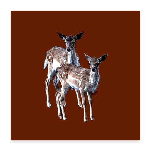 POPIIZERO - THE BAMBIS CHOCOLATE - Poster 60x60 cm
