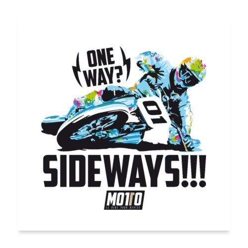 Poster Sideways - Poster 60 x 60 cm