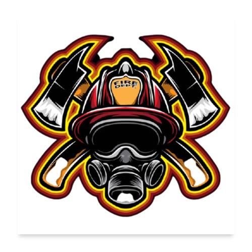Fire Department - Poster 60x60 cm