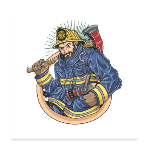 Feuerwehrmann - Poster 60x60 cm