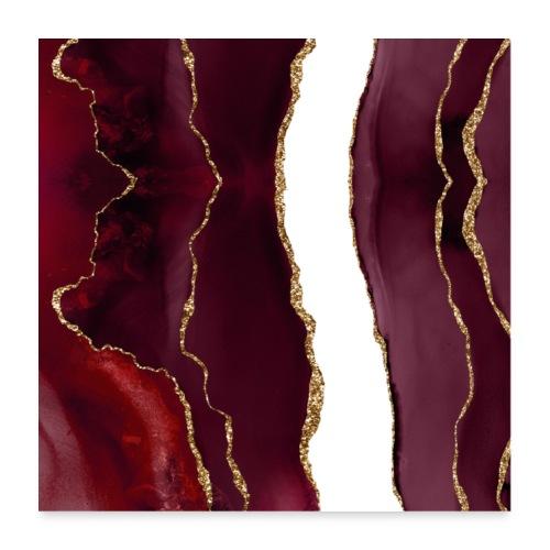 Agate lie de vin et or - Poster 60 x 60 cm