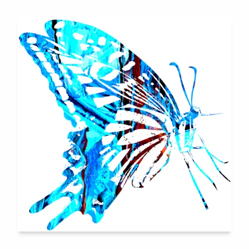 Butterfly, perhonen T Shirts, Hoodies, Gifts - Juliste 60x60 cm
