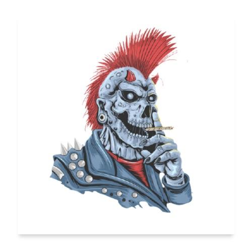 Rauchender Punk - Poster 60x60 cm