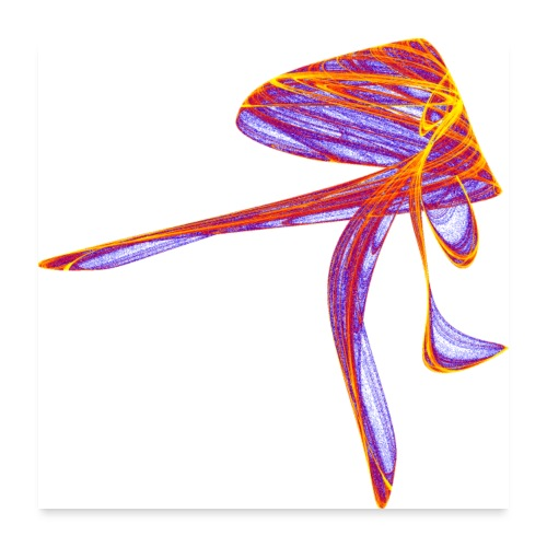Someone is in a hurry Elegant lady 2366bry_P - Poster 24 x 24 (60x60 cm)